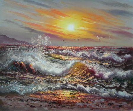 Obraz - Rozbouřené moře I.