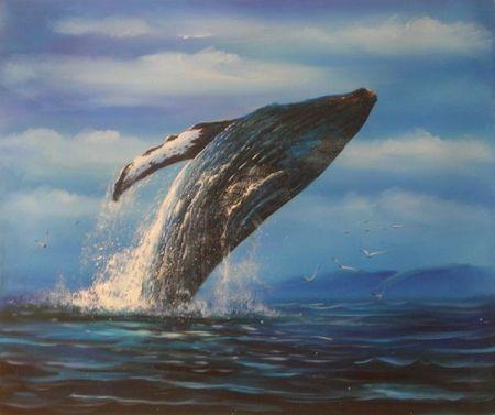 Obraz - Skákající velryba