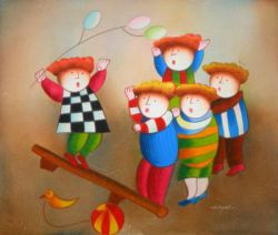 Obraz - Šťastné dětství