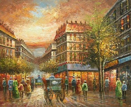 Obraz - Ulice v Paříži III.