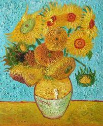 Obraz - Váza s 15 slunečnicemi
