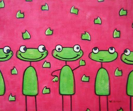 Obraz - Veselé žabičky