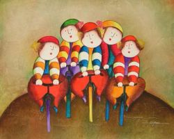 Obraz - Výlet na kole