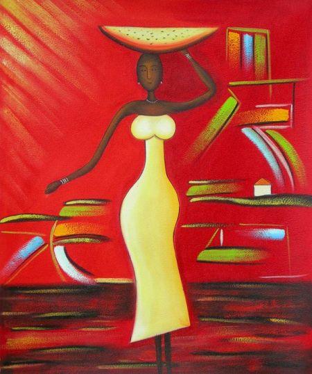Obraz - Žena nesoucí mísu