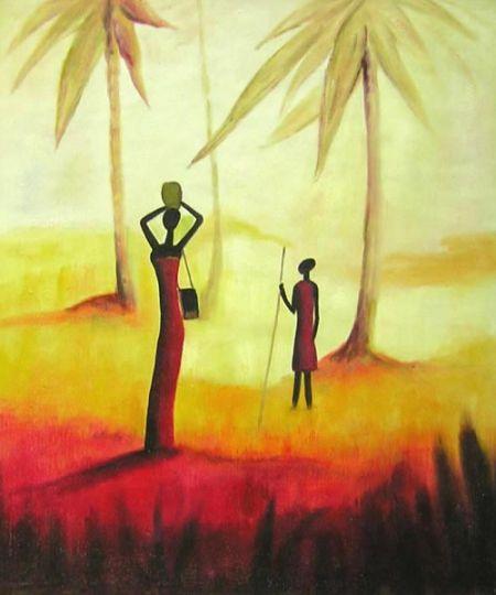 Obraz - Ženy v západu slunce