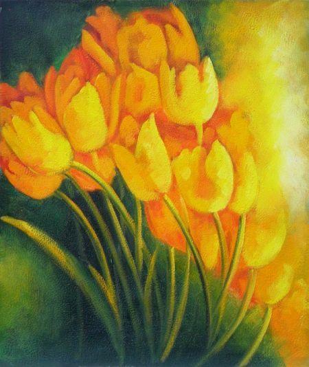 Obraz - Žluté tulipány I.