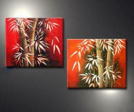 Obrazový set - Bambusové stromy