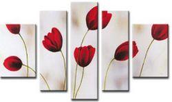 Obrazový set - Červené tulipány I.