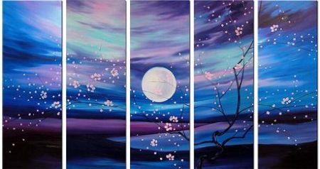 Obrazový set - Květy noci