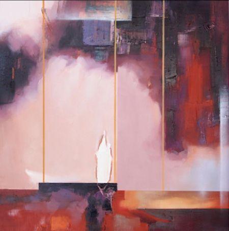 Obrazy - Růžová abstrakce