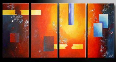 Vícedílné obrazy - Abstrakce 46.