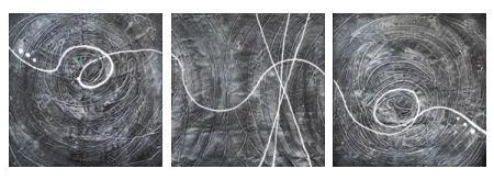 Vícedílné obrazy - Abstrakce 45.
